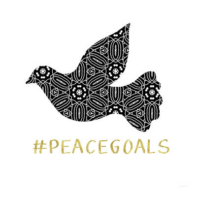 Dove Digital Art - Peace Goals- Art By Linda Woods by Linda Woods