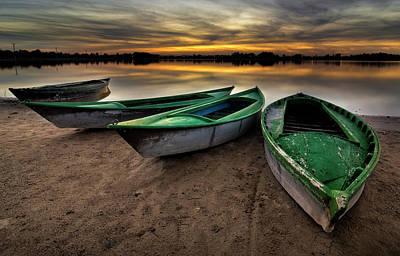 Peace In The Lagoon Print by Hernan Bua