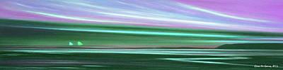 Peace Is Colorful 3 - Panoramic Print by Gina De Gorna
