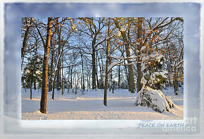 Snowed Trees Mixed Media - Peace On Earth by Gerlinde Keating - Keating Associates Inc