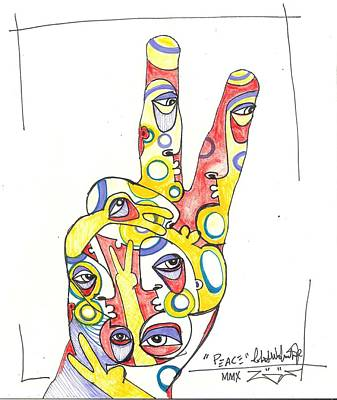 Abstract Expressionism Drawing - Peace by Robert Wolverton Jr