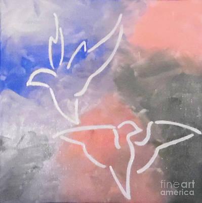 Abstract Handbag Drawing Painting - Peace Soaring by Jilian Cramb - AMothersFineArt