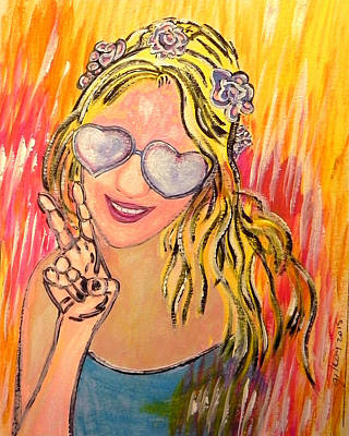 Beach Model Painting - Peace  by W Gilroy