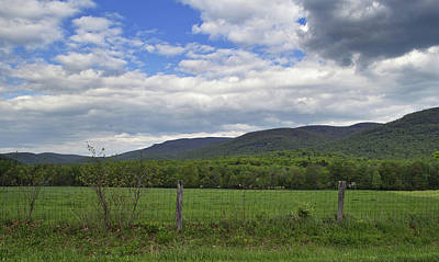 Peaceful Blue Ridge Valley - Virginia Print by Brendan Reals