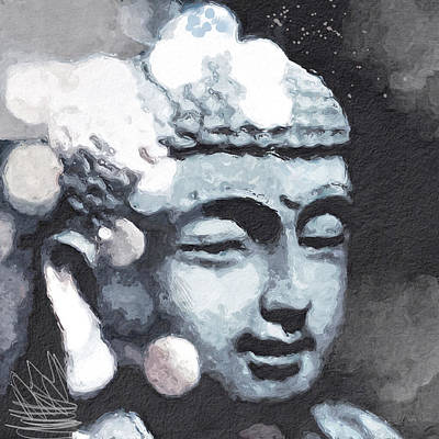 Peaceful Buddha 3- Art By Linda Woods Print by Linda Woods