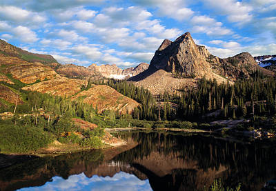 Blanche Photograph - Peaceful Mountain Lake by Utah Images