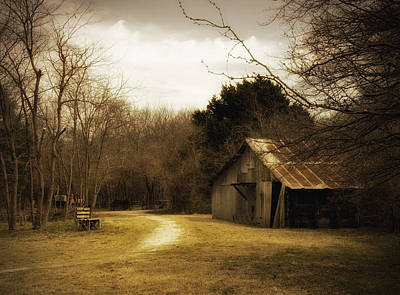 Old House Photograph - Peaceful Old Barn by Iris Greenwell