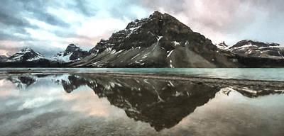 Bow Lake Digital Art - Peaceful Reflection II by Jon Glaser