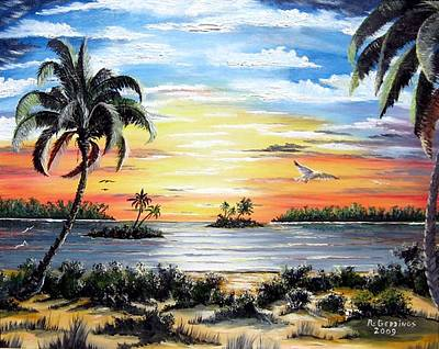 Painting - Peaceful Sunset by Riley Geddings