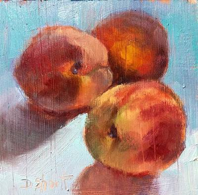 Peach Bliss Print by Donna Shortt