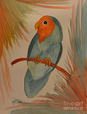 Peach-faced Lovebird Original by Maria Urso