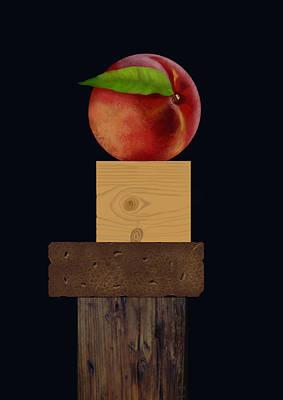 Peach On Top Original by Dietrich Moravec
