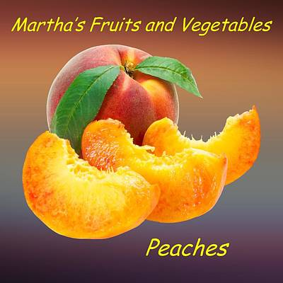 Peach Drawing - Peach Slices Customized  by Movie Poster Prints