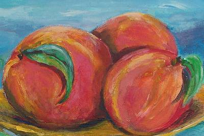 Peaches Print by Eric  Schiabor