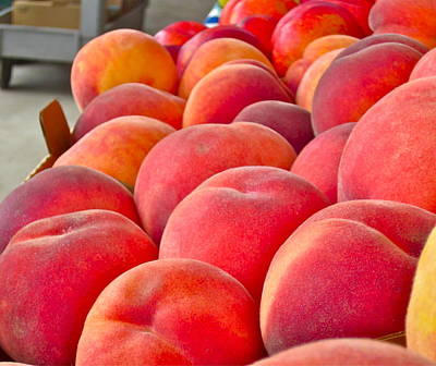 Peaches For Sale Print by Gwyn Newcombe