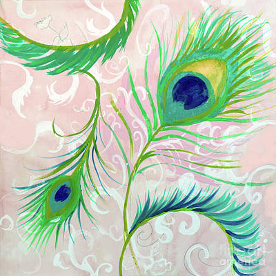 Painting - Peacock Feathers by Robin Maria Pedrero