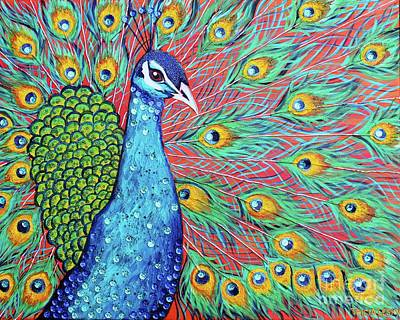 Peacock Painting - Peacock Pizzazz by Tricia Lesky