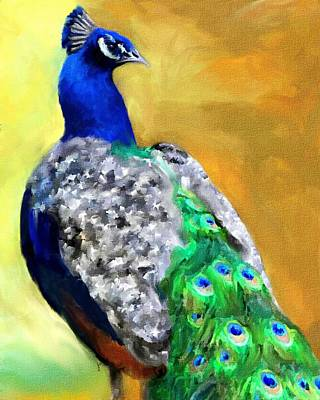 Peacock Painting - Peacock Portrait by Jai Johnson