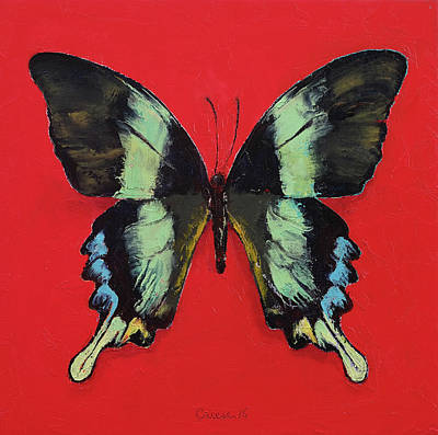 Transformation Painting - Peacock Swallowtail Butterfly by Michael Creese