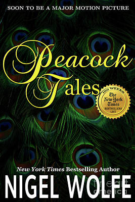Book Jacket Design Photograph - Peacock Tales Book Cover by Mike Nellums