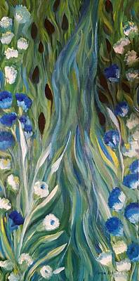 Peacocks Tail Original by Karla Kay Benjamin