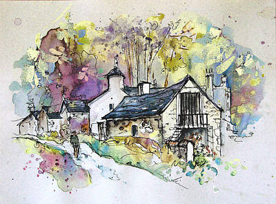 Art Miki Painting - Peak District 09 B by Miki De Goodaboom