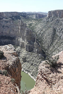 River Photograph - Peaking Through The Canyon by Carolyn Brown