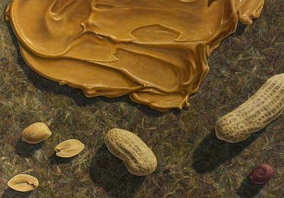 Peanuts Painting - Peanut Butter And Peanuts by James W Johnson
