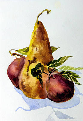 Pear And Apples Print by Mindy Newman