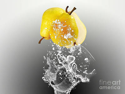 Pear Splash Collection Print by Marvin Blaine
