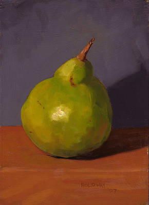 Painting - Pear With Gray by John Holdway