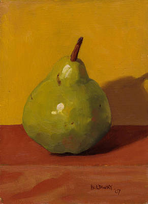 Painting - Pear With Yellow by John Holdway