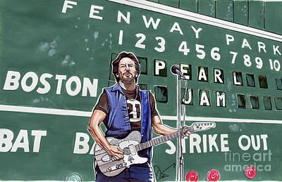 Pearl Jam And Eddie Veddar At Fenway Park Original by Dave Olsen