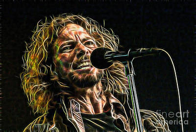 Pearl Jam Eddie Vedder Collection Print by Marvin Blaine
