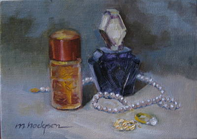 Pearls And Perfumes Print by Margaret Hodgson