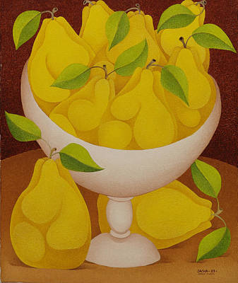 Sacha Painting - Pears   2007 by S A C H A -  Circulism Technique