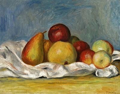 Pierre-auguste Renoir Painting - Pears And Apples by Pierre-Auguste Renoir