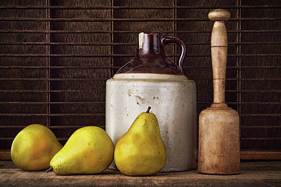 Potato Mixed Media - Pears And Jug by Vicki McLead