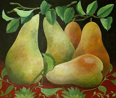 Pears Print by Jennifer Abbot