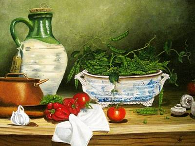 Terrene Painting - Peas In A Pod by Richard F Barber