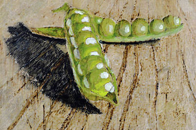 Pyrography Painting - Peas In A Pod by Zilpa Van der Gragt
