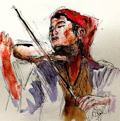 Loose Style Painting - Peasant Violinist by Steven Ponsford