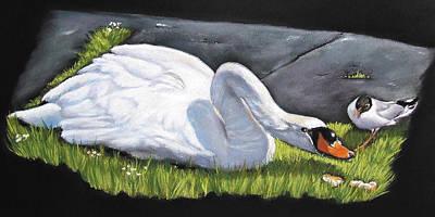 Pecking Order Print by Vanda Luddy
