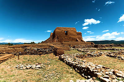 Adobe Church Photograph - Pecos Ruins New Mexico by Jeff Swan