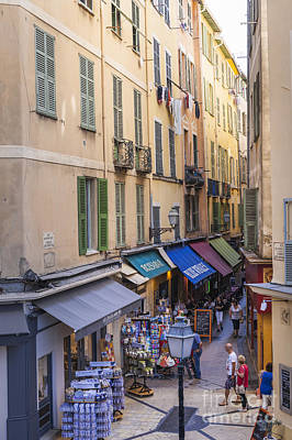 European Cafe Photograph - Street In Old Nice by Elena Elisseeva
