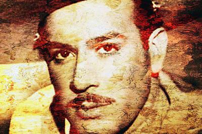 Singer Digital Art - Pedro Infante by Jose Espinoza