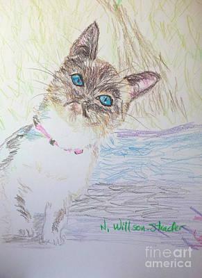 Peek A Boo Kitty Original by N Willson-Strader