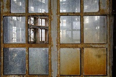 Peeping Inside Factory Hall - Industrial Decay Print by Dirk Ercken