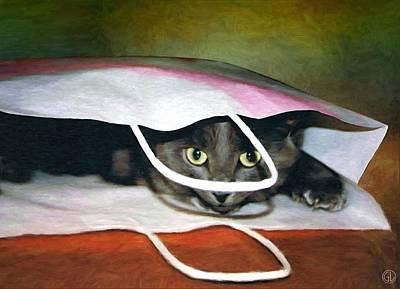 Cat Digital Art - Peeping Out by Gun Legler