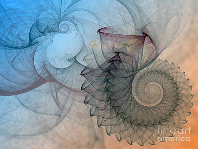 Abstraction Digital Art - Pefect Spiral by Karin Kuhlmann